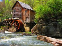Grist Mill at Babcock State Park WV, May 2013. - by Ryan Cook