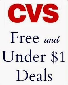 CVS FREE and Under $1 Deals for 4/6 to 4/12 #CVS #deals #free