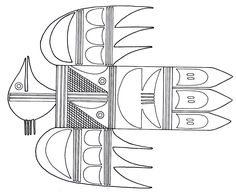 A Thunderbird Symbol From The Hopi Indians Printable Coloring Book Page