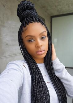Awesome Box Braids Hairstyles //  #Awesome #braids #Hairstyles