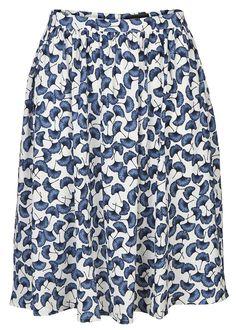 Nederdel blå print 21049 Storm og Marie Holly Skirt - blue print