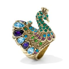 Heidi Daus Peacock Alley Crystal Accented Ring