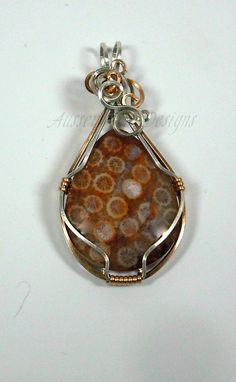 Fire Coral Designer Pendant by AussenWolfDesigns on Etsy, $90.00