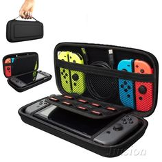 Orzly Carry Case Compatible With Nintendo Switch - BLACK Protective Hard Portable Travel Carry Case Shell Pouch for Nintendo Switch Console & Accessories. Designed specifically for the Nintendo Switch. Console Tv, Console Style, Nintendo Ds, Console Nintendo, Nintendo Consoles, Xbox One, Ipod Touch, Mochila Kanken, Nintendo Switch Case