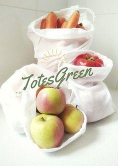 Reusable cotton produce bags, made in Australia from natural materials. #saynotoplastic #bringyourownbag #banthebag #zerowaste
