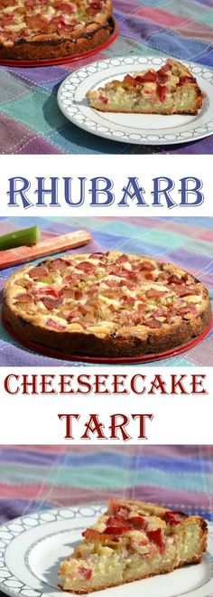 Rhubarb cheesecake tart- If you love rhubarb, you will adore this decadent tart! Perfect for a summer dessert, it layers cheesecake filling over a crumb crust with a delicious rhubarb topping! Make sure to save it to your dessert board! Rhubarb Tart, Rhubarb Desserts, Köstliche Desserts, Delicious Desserts, Yummy Food, Rhubarb Recipes Low Carb, Cooking Rhubarb, Tart Recipes, Fruit Recipes