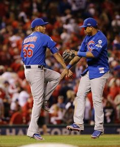 Hector Rondon, Starlin Castro, CHC//Game 2 NLDS at STL, Oct 10,2015
