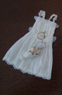 miniature dollhouse VICTORIAN style GIRLS DRESS w by kathiecrisan, $25.00