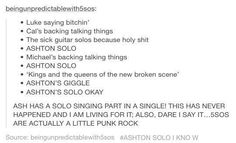 DARE I SAY THAT 5sos MAY BE A LITTLE PUNK ROCK
