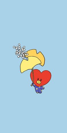 There is nothing better than a Tata wallpaper, it is so beautiful UwU ✨ Kawaii Wallpaper, Bts Wallpaper, Aesthetic Iphone Wallpaper, Aesthetic Wallpapers, Bts Backgrounds, Bts Drawings, Bts Chibi, Line Friends, Cute Cartoon Wallpapers