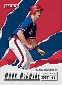 Mark McGwire  Panini America Unveils the Visuals for 2017 Father's Day Promotion Set
