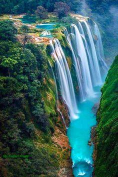 Vodopády Tamul Huasteca Potosina, Mexiko
