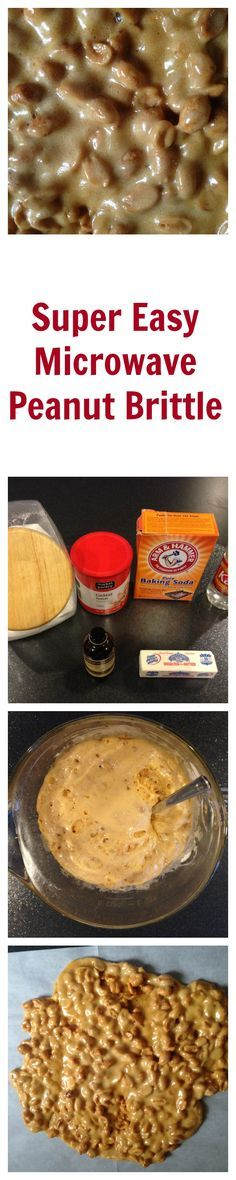 With this recipe, you can quickly make a great peanut brittle in one container in a matter of minutes!