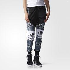 adidas LA Trefoil Print Mix Track Pants - Multicolor   adidas US