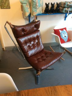 1973 Chrome base High Back 'Falcon' chair by Sigurd Ressel for Vatne Mobler. £1500.00 at Kingdom Furnishings #interiordesign #homewares #vintagefurniture #midcentury
