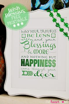 Great Ideas -- 21 DIY St. Patrick's Day Projects!