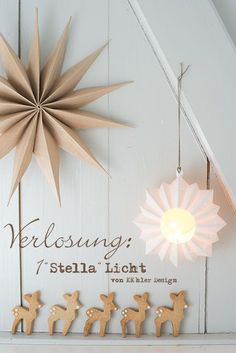 winter decor with kraft paper and gingerbread