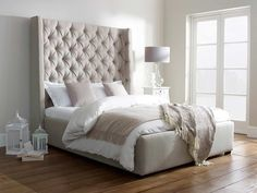 Likeness Of Awe Inspiring Tall Upholstered Beds That Will Enhance Your  Bedroom Value