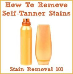How to remove self-tanner stains from clothes {on Stain Removal 101}