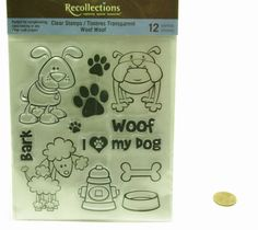 Recollections Clear Stamp Sheet Woof Woof 12 Clear by Niecyann79