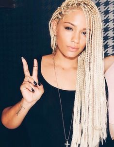 try blonde braids on for size!
