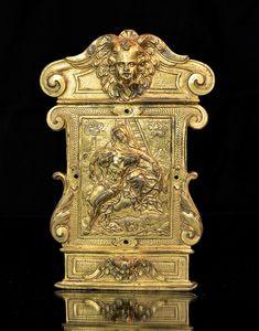 Renaissance, Bronze, Moka, Crucifix, Messing, Lion Sculpture, Statue, Art, Booklet