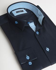Reverse collar shirt for men by Franck Michel