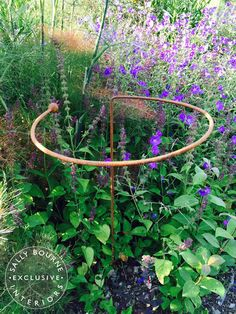 3 x Wrought Iron Circular Plant Supports