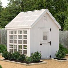 Little Cottage Company 8 x 8 ft. Colonial Gable Greenhouse 8x8-LCG-RPNK #greenhouseideas #gardensheds #greenhousegardening