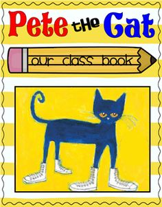 Free download of cover and page for students-- Oh, no! Pete the Cat stepped in...