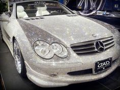 Blinged Benz, if this is real it would blind every driver within a 10 mile radius in sunlight.
