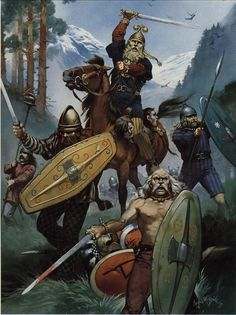 Celtic Warriors on the way to sack the Greek Sanctuary of Delphi. Artwork by…