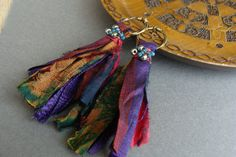 Hey, I found this really awesome Etsy listing at https://www.etsy.com/au/listing/269418144/vivid-silk-sari-earrings-statement