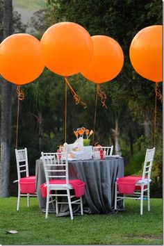 An orangey way to light up a party :)