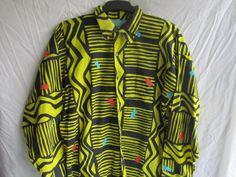 Vintage African Print Mens Shirt   #zuvaaloves #african #menswear