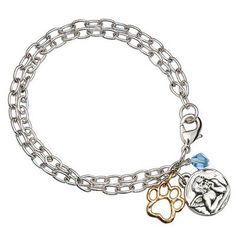 Signs and Plaques 46299: Rockin Doggie Paw Bracelet Angel With Gold Plated Paw And Blue Crystal Bead BUY IT NOW ONLY: $149.0