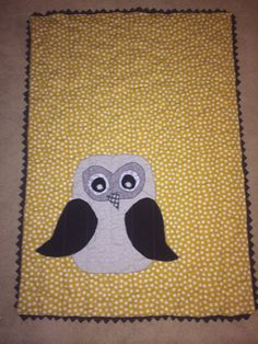 Owl quilt FINISHED lap size can also make to order by knottygypsy