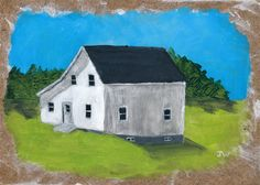 White Farmhouse Study Print of Original by GallivantingGirl