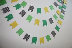 Yellow and Green Tractor Party Decoration Paper by SimplyScissors, $11.00