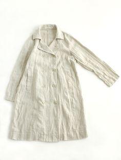 crash linen trench coat
