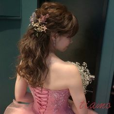 人気のシニヨンからハーフアップへ♡可愛い花嫁さまのWDパーティーヘア Girls Dresses, Flower Girl Dresses, One Shoulder Wedding Dress, Hair Beauty, Wedding Dresses, Flowers, Fashion, Dresses Of Girls, Bride Dresses