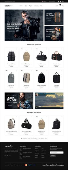Turan is clean, stylish and modern design responsive WooCommerce WordPress #theme for stunning online #webshop eCommerce #website with 17 unique homepage layouts to live preview & download click on Visit