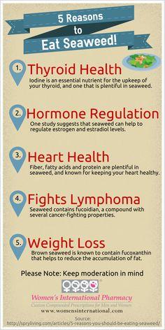 Reasons to eat seaweed! www.womensinternational.com