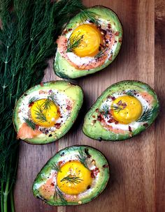 Smoked Salmon Egg Stuffed Avocado | GrokGrub.com