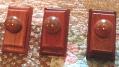 3 Brazilian Cherry Wood Quilt Hangers / Clips