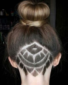 Undercut mandala design on short hair