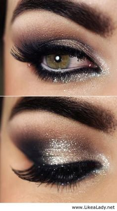 Night eye makeup