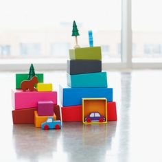 MOMA topsy turvy stacking blocks