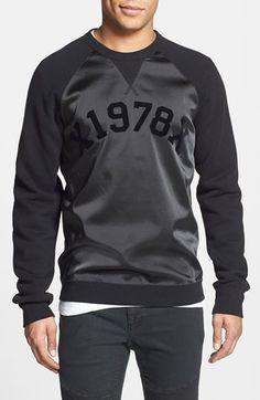 DIESEL® 'Tae' Mixed Media Raglan Sweatshirt - that should be mine!