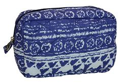 Carolina Sweethearts Quilted Cosmetic Bag Moroccan Aztec Vinyl Lined Blue Medium >>> Discover this special product, click the image : Christmas Luggage and Travel Gear Camping And Hiking, Makeup Forever, Ukulele, Cosmetic Bag, Aztec, Macbook, Moroccan, Laptop, Cosmetics